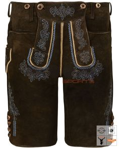 Weitenfels Urform Lederhose Kurz Braun Art. #MnS-60-0092905 Length: Short Material: Deer skin Buttons: Deer horn DESCRIPTION Weitenfels Urform Lederhose Kurz Braun for men by Moon Sports in Zirbel-Braun. Filigree embroidery in blue together with the relief embroidery creates a fashionable contrast to the color of the Natural deerskin. Classic pockets on the front and horn buttons on the leg ends and on the bib make the overall picture perfect in this Weitenfels Urform Lederhose Kurz. Deerskin, Lederhosen, Filigree, Overalls, Contrast, Product Description, Moon, Buttons, Pockets
