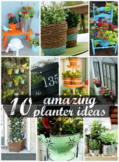 10 Amazing DIY Planter Ideas #planter #outdoorplanter #planterboxes #outdoor @Jackie Gregory Designing {Ashley Phipps}