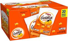 #foodsale A convenient carton of 30 single serve 1.5 ounce pouches of the leading #goldfish crackers. #Unique perforated carton allows consumers easy storage and ...