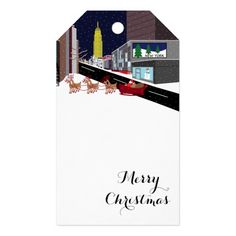 Santa In New York Christmas Gift Tags