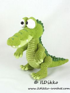 Conrad the Crocodile amigurumi pattern by IlDikko