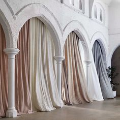 Loving the new Linesta by Linea Fabric Range available through Warwick Fabrics Linen Curtains, Curtain Fabric, Drapery, Curtain Inspiration, Warwick Fabrics, Ethereal Wedding, Commercial Interior Design, White Aesthetic, Event Decor