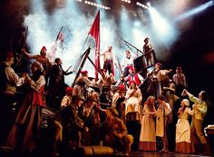 The barricade from Les Mis. Just superb! The power...you can almost hear the people sing.