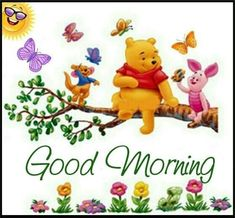 It's a good day everyday with Pooh and Friends Pooh And Piglet Quotes, Tigger And Pooh, Cute Winnie The Pooh, Winne The Pooh, Winnie The Pooh Friends, Pooh Bear, Good Morning Greetings, Good Morning Quotes, Winnie The Pooh Pictures