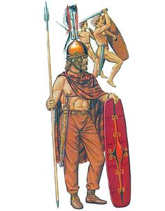A Senones chieftain, c. 300 BC. By far one of the most aggressive tribal grups in Cisalpine Gaul, the Senones led the main group of warriors that destroyed the Roman army during the battle of the Alia in 390 BC.