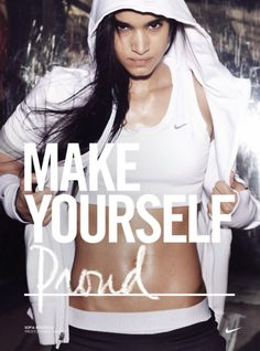"""If you've never watched Nike's """"Make Yourself Proud"""" video - go to youtube, then go to the gym.  MAKE YOURSELF PROUD!"""