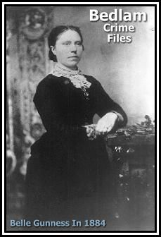 Belle Gunness murdered at least 40 people, usually wealthy men who answered her personal ad seeking companionship at her remote farm in La Porte, Indiana. After a house fire, the bodies were found, but she had disappeared without a trace. So, so creepy.