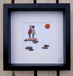 Love pebble picture, By your side picture, Forever gift, Family gift, Anniversary present, Framed birthday present, Valentine's Day present, Anselmo Pebble Art