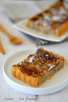 Tarte Poire - Crème de Marrons - Cuisiner... tout Simplement, Le Blog de cuisine de Nathalie
