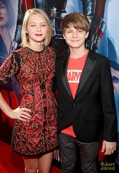 Ty and his big sister Ryan Simpkins at the world premiere of #AntMan