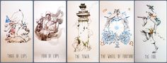 Line Strider Tarot by Siolo Thompson. Not yet released.
