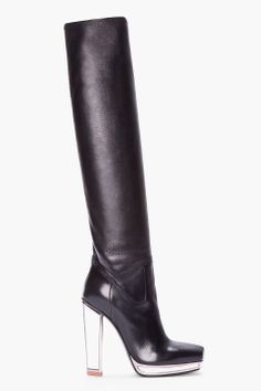 YVES SAINT LAURENT //  KNEE-HIGH MIRRORED TABITA BOOT