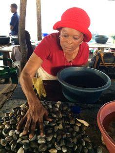 Woman trader at Maputo fish market