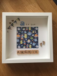 A is for Archie - personalised / handmade scrabble memory frame - £15.00 plus P&P