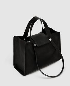 Wiberlux Christian Louboutin Women's Metal Logo With Pointed Stud Detail Chain Strap Bag Briefcase Women, Sacs Design, Zara Bags, City Bag, Zara Women, Miu Miu, Bucket Bag, Shoulder Bag, Handbags