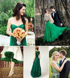Vestito verde smeraldo matrimonio #matrimonio #verde #smeraldo