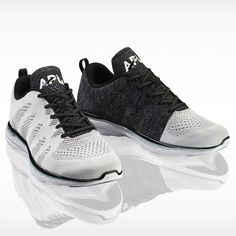 APL Men's Running Shoe Techloom Pro White/Black/Cosmic Grey