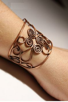 copper bangle wire wrapped