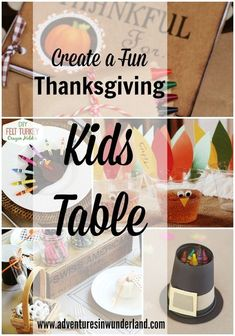 Need some fun ideas for your Thanksgiving Kids Table this year? We've got you covered! We've rounded up a bunch of our favorite ideas to share with you! Thanksgiving Crafts For Kids, Thanksgiving Activities, Thanksgiving Decorations, Kid Table, Some Fun, Diy For Kids, Create, Birthday, Blog
