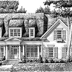 Stewart's Landing, Plan #024 | Timeless design details like a classical-influenced pediment above the entrance mesh well with a smartly designed, airy floor plan and wonderful outdoor spaces. | SouthernLiving.com