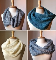 KNITTING PATTERN - Knit Cowl Neckwarmer Scarf - Bridget Cowl - PDF Electronic Delivery from Etsy Shop AtelierTPK ($6.50)
