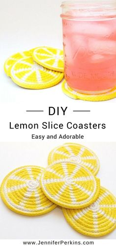 Do you prefer your's pink, plain or spiked? Any which way you drink it, a tall glass will always taste that much sweeter on a DIY Lemon Coaster. Trust me, I know from experience. This post is sponsored and originally appeared onI Love to Create. #JenniferPerkins #diy #diyproject #crafts #crafty #CreateEveryday #DoItYourself #DecorCrafts #Decor #HomeDecor #DIYDecor