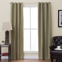 EverRouge Textured Insulated Thermal Blackout Curtain Panel