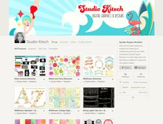 On the Creative Market Blog - New Shop on the Block: Studio Kitsch