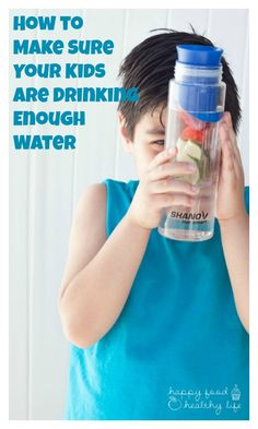 How to Make Sure Your Kids Are Drinking Enough Water - Great ideas for drinking more water- super important for the hot months of summer! http://www.superhealthykids.com/make-sure-kids-drinking-enough-water/
