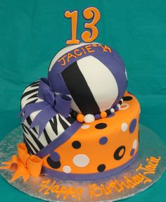 volleyball | shaped cake