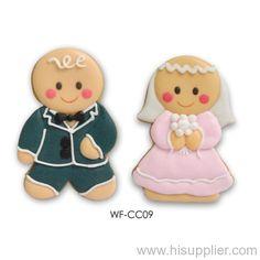 Gingerbread bride and groom