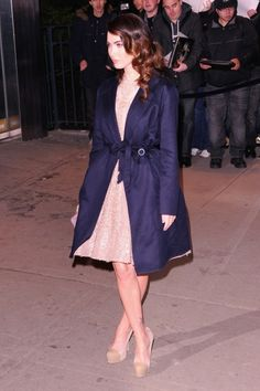 The argument for wearing a coat with a formal dress. #MeganFox