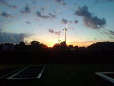 il sorger del sole sul Parco di Trenno