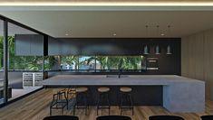 Kitchen Pantry Design, Kitchen Interior, Kitchen Ideas, Outdoor Bbq Kitchen, Living Comedor, Conceptual Design, Plan Design, Design Ideas, Architecture