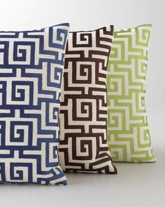 """Greek Key"" Accent Pillow - Horchow"