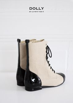 DOLLY by Le Petit Tom ® JUTE VICTORIAN BOOTS 1VIC jute-black