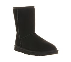 UGG Australia Classic Short Boots Black - Ankle Boots