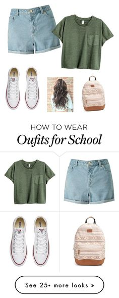 """School"" by thephink on Polyvore featuring Miss Selfridge, Converse and Rip Curl"