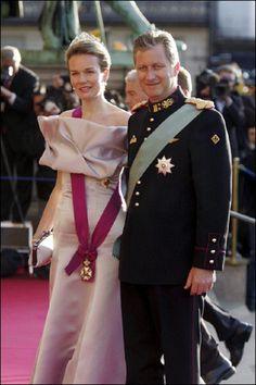 Princess Mathilde and Prince Philippe of Belgium.