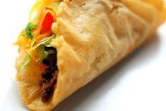 Crispy Taco awesomeness...I just use lard instead of vegetable oils....