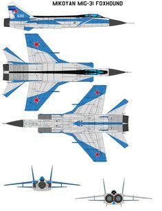 Mikoyan MiG-31 Foxhound by bagera3005 on DeviantArt