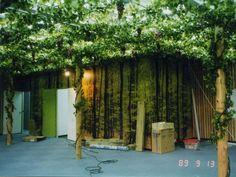 天井、壁面緑化の人工樹木