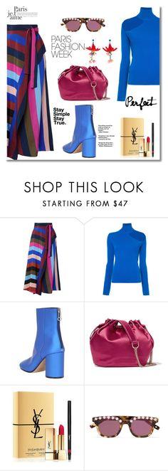 """Pack and Go :Paris Fashion Week"" by faten-m-h ❤ liked on Polyvore featuring Diane Von Furstenberg, Dion Lee, Maison Margiela, Yves Saint Laurent, Frēda Banana, Etro, parisfashionweek and Packandgo"