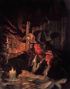 """Pirates:  #Pirate ~ """"Long John Silver,"""" by Matthieu Lauffray."""