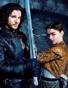Winter is Coming- Eventually - Maisie Williams and Kit Harington for...