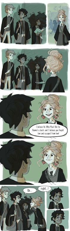 One of my favorite Luna scenes in Order of the Phoenix! Blatant Luna is life. Hermione's hair