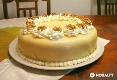 Lübecki marcipántorta Vanilla Cake, Food And Drink, Xmas, Sweets, Baking, Recipes, Google, Cakes, Diy