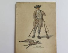 Antique Print// Lithograph by J Roth//Swiss Costume Print//Chasseur aux Chamois a Grindelwald Print -    Edit Listing  - Etsy
