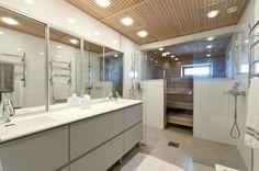 Bathroom and sauna Beautiful Bathrooms, Powder Room, Interior Design, Building, Nest, Kitchen, Laundry, House, Home Decor