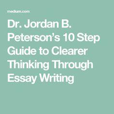 Help to writing essay jordan peterson